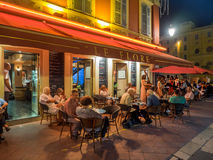 Utomhus- restaurang och stång Fotografering för Bildbyråer