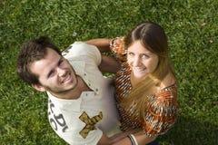 utomhus- romantiker för par Royaltyfri Foto