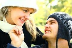 utomhus- romantiker för par Royaltyfria Foton