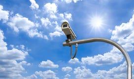utomhus- säkerhet för kameracctv under Arkivbilder