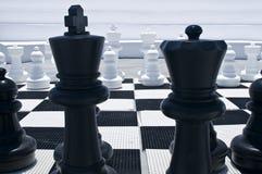 utomhus- schackbräde Royaltyfri Bild