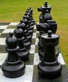Utomhus- schackSet Arkivfoto