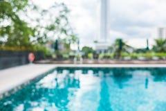 Utomhus- simbassäng för abstrakt suddighet Royaltyfri Bild