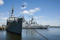 Utomhus- sjö- museum för slagskeppliten vik Royaltyfri Fotografi