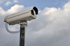 Utomhus- säkerhetscctv-kamera Fotografering för Bildbyråer