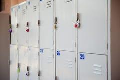 Utomhus- skolaskåp Arkivbilder