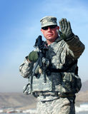 utomhus- soldat Royaltyfri Bild