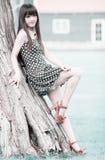 utomhus- sommar för asiatisk flicka Royaltyfria Foton