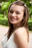 utomhus- stående för flicka Fotografering för Bildbyråer