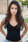 Härlig ung kvinna royaltyfri fotografi
