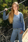 utomhus- teen för tillfällig flicka Royaltyfri Fotografi