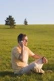 utomhus- telefon för cell Arkivbilder