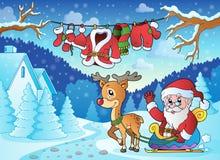 Utomhus- tema 2 för jul Arkivfoto