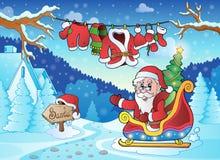 Utomhus- tema 4 för jul Arkivbild