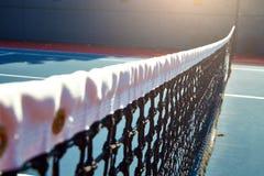 Utomhus- tennisbana med inget i Malibu royaltyfria bilder