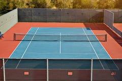 Utomhus- tennisbana med inget i Malibu fotografering för bildbyråer