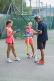 Utomhus- tennisskola Royaltyfri Fotografi