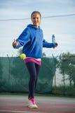 Utomhus- tennisskola Royaltyfria Foton