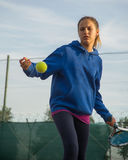 Utomhus- tennisskola Royaltyfria Bilder
