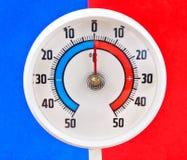 Utomhus- termometer Arkivbild