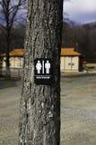 utomhus- toalett Arkivbild