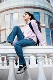 utomhus- tonårs- för flicka Royaltyfria Bilder