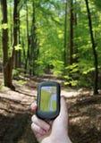 utomhus- trä för navigering Arkivfoto