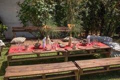 Utomhus trädgårds- garnering för händelse Royaltyfri Bild