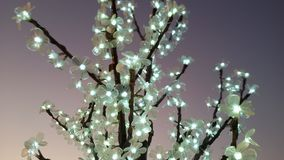 Utomhus- trädgarnering för jul arkivfoton