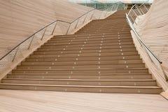 utomhus- trappa för flyg Arkivfoto