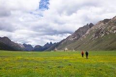 Utomhus- trekking för platå Fotografering för Bildbyråer