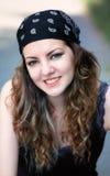 Utomhus- ung kvinna Royaltyfri Foto