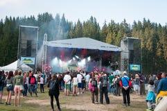 Utomhus- vagga konserten fotografering för bildbyråer