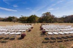 utomhus- venuebröllop Royaltyfria Bilder
