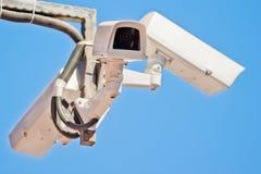 Utomhus- video kamera för bevakning tre royaltyfri bild