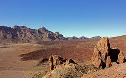 Utomjordiskt landskap i den Teide nationalparken royaltyfria bilder