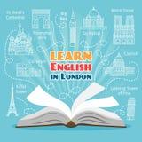 Utomlands språkskola royaltyfri illustrationer