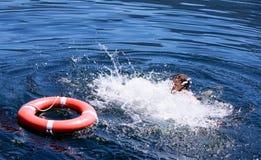 utopić człowieka Fotografia Royalty Free