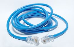Utp cable for internet Royalty Free Stock Photography