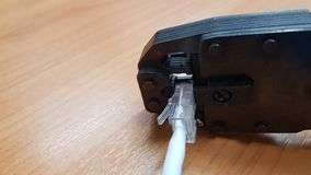 UTP kabel hur till arkivbild