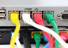UTP LAN Connect the ethernet port Stock Image