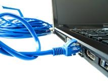 UTP nätverkskabel Fotografering för Bildbyråer