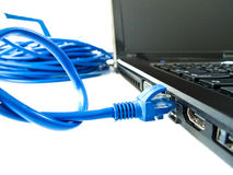 UTP network cable. A shot of UTP network cable. Data Network Hardware Concept Stock Image