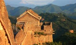 Utpost på den stora väggen av Kina Arkivbild