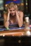 utrata ruletka stołu kobieta Obrazy Stock