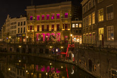 Utrecht на Ноче Winkel фургоне Sinkel Стоковая Фотография RF