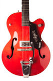 01-07-2014 Utrecht, Нидерланды, гитара 1960 Gretsch Chet Atkins на белой предпосылке Стоковая Фотография