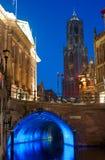 Utrecht bij schemering Royalty-vrije Stock Afbeeldingen