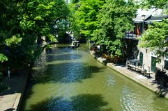 Utrecht canal. Canal in the center of utrecht Royalty Free Stock Photography