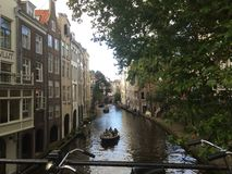 Utrecht canal Stock Photography